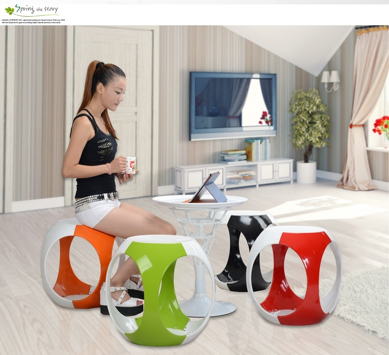 Nordic pop bar plastic stool South American fashion tea stool Furniture market ABS stool wholesale and retail free shipping