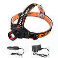 Rechargeable LED Headlamp + Charger Cree Q5 Waterproof Built-in Lithium Battery Head lamp 3 Mode Zoomable Torch Headlight