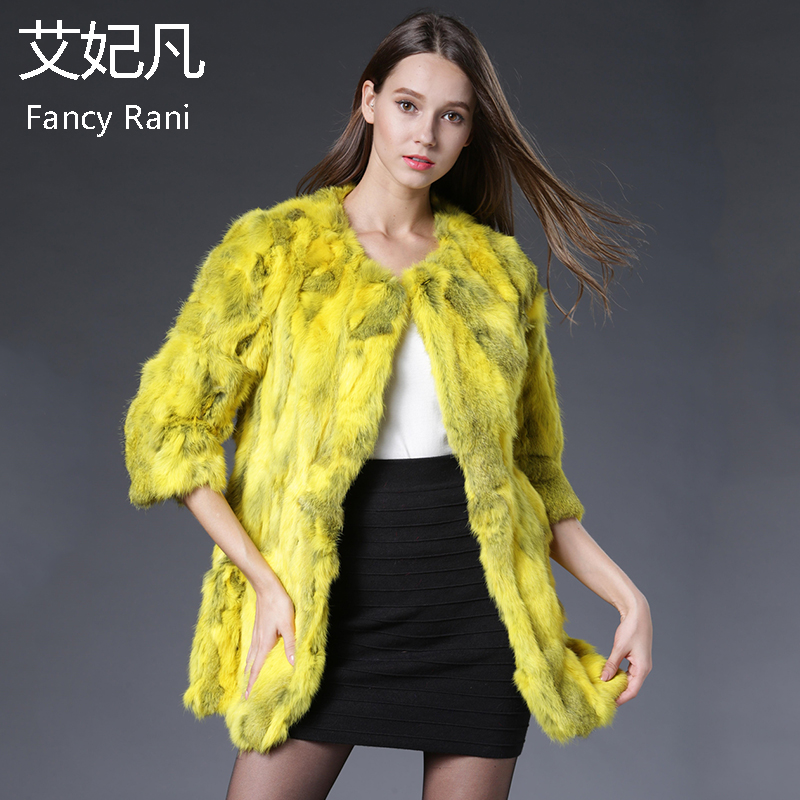 Real Rabbit Fur Coat Women Winter Warm High Quality Brand Real Fur Jackets Fashion Outwear Patchwork Natural Rabbit Fur Coats
