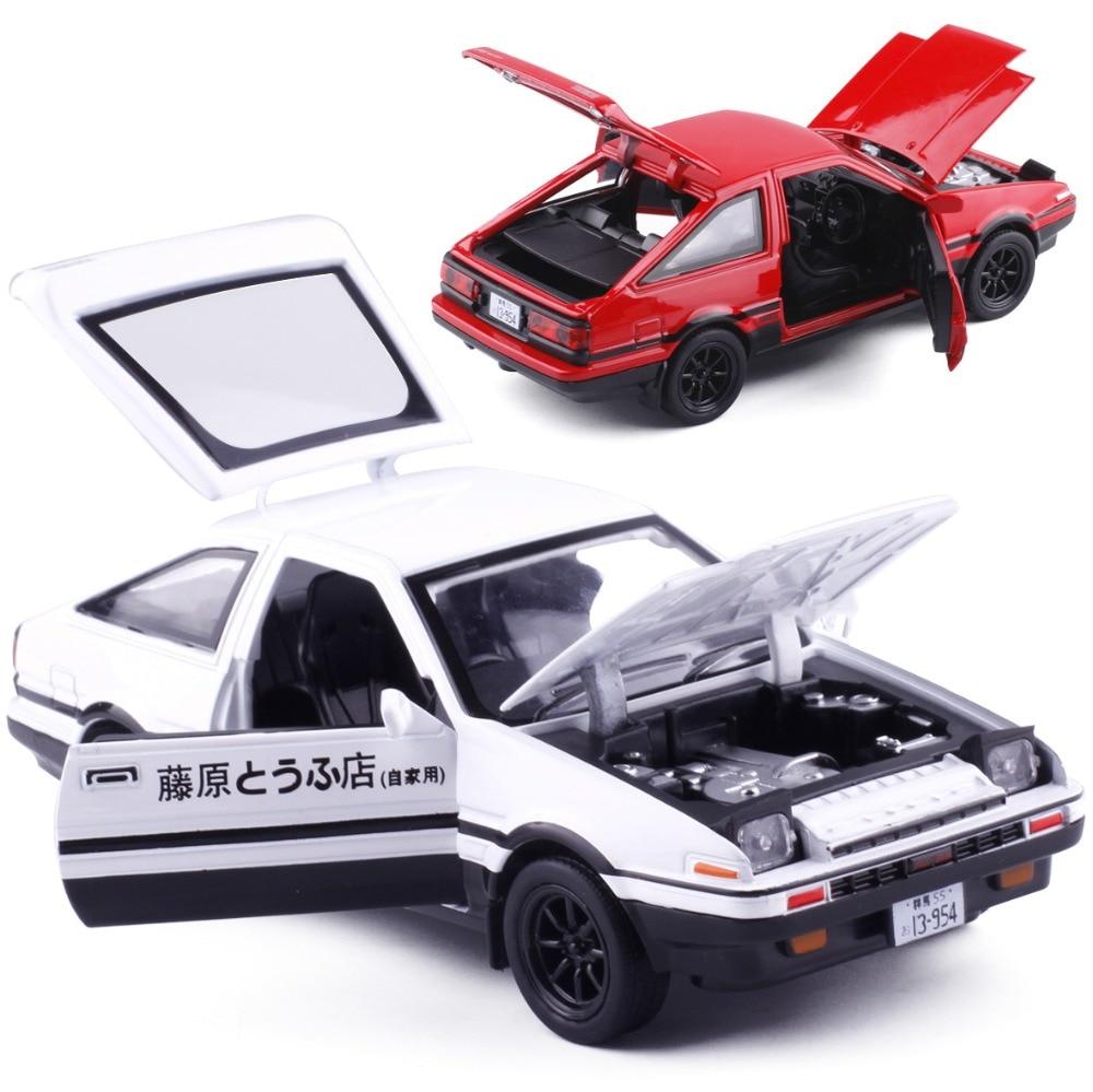 1:28 AE86 Diecast Model Car Pull Back Alloy Metal Toy Car
