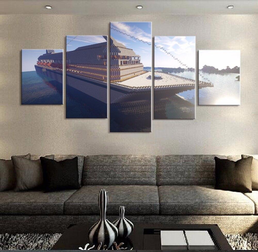 Moderne Wohnkultur Leinwand Rahmen Wandkunst Malerei 5 Panel ...
