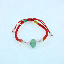 Hand-woven imitation transport beads red rope bracelet red rope jewelry ladies fashion national wind hand rope