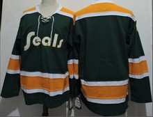 a704f9f91 California Golden Seals HOCKEY JERSEY Embroidery Stitched Customize any  number and name Jerseys(China)