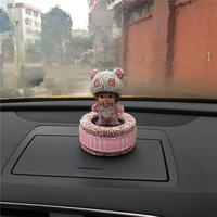 The New Diamond Kiki Panda Car Perfume Air Freshener Perfume Stand For Instrument Console Decorate Automobile