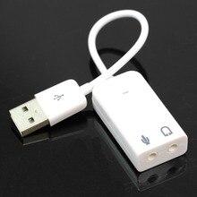 20 см 7.1 USB 2.0 внешняя звуковая карта w / 3.5 мм для наушников и микрофона интерфейс, Стерео микрофон аудиоадаптера конвертер