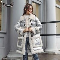 BFFUR Luxury Brand Jacket Robe Femme Hiver 2018 Waterproof Fur Jacket Real Fur Coats For Women Winter Sale Park With Natural Fur