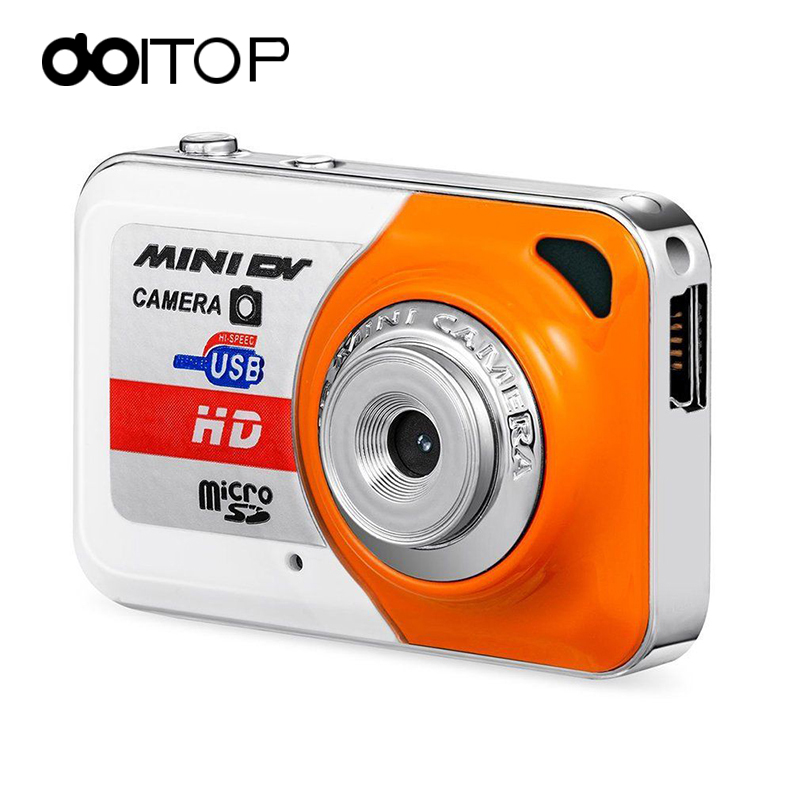 DOITOP Camera Mini HD Ultra Portable 1280*1024 Super Mini Camera X6 Video Recorder Small Digital Camera DV for Taking Picture