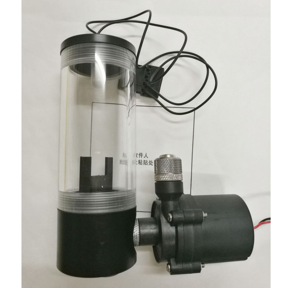 Computer water cooling with led cool lighting cylindrical water tank pump kit mute ceramic bearing soft connection shock SC600