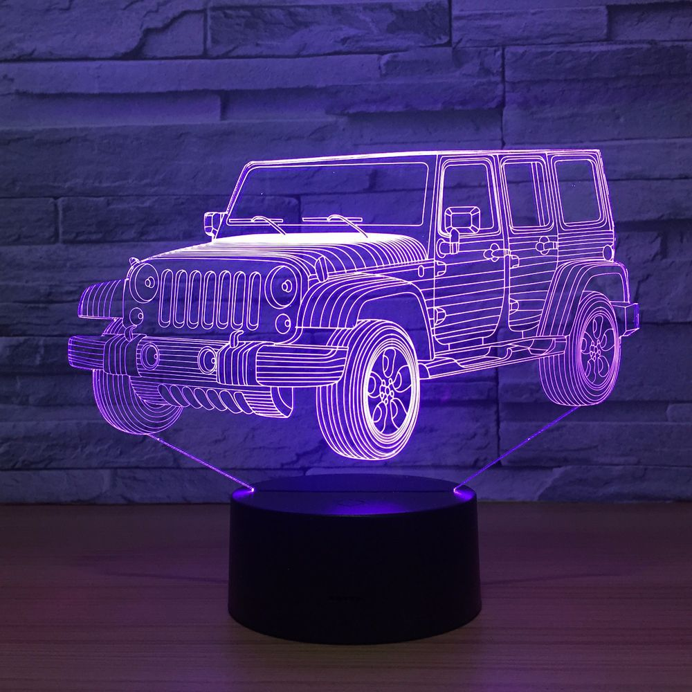 3D LED Car Night Light Gradient Jeep Shape USB Bedside Bedroom 3D Table Lamp USB Indoor Decor Atmosphere lamp Birthday New Gift3D LED Car Night Light Gradient Jeep Shape USB Bedside Bedroom 3D Table Lamp USB Indoor Decor Atmosphere lamp Birthday New Gift