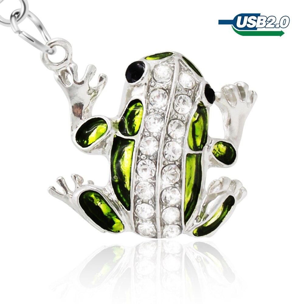 Pendrive 64GB Memory-Stick Key-Chain Frog Crystal Diamond U-Disk 16GB 8gb Usb 32GB Cel