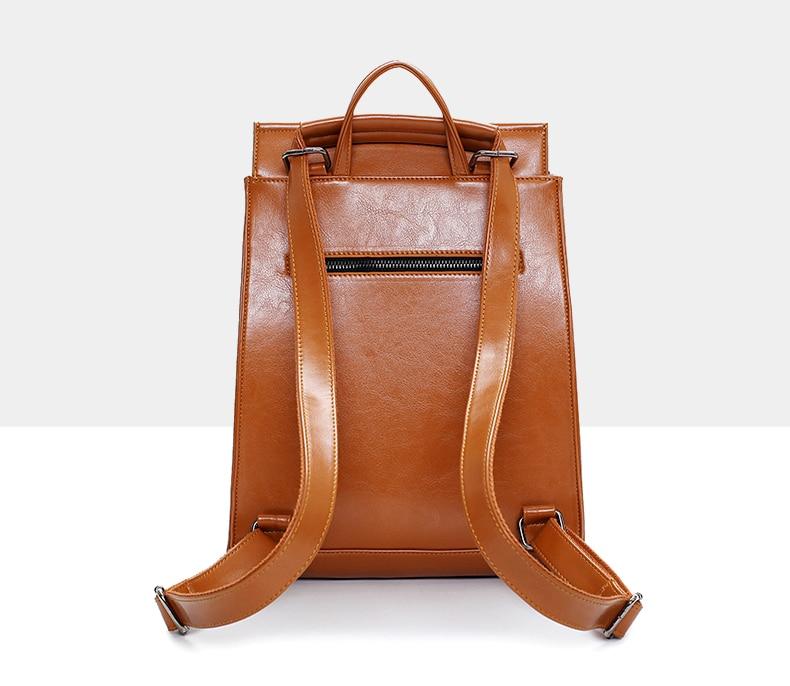 Women Vintage Backpack Designer High Quality Leather Backpacks For ...