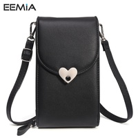 EEMIA Lady Pouch For IPhone X Case Luxury PU Leather Mobile Phone Bag Cases For IPhone