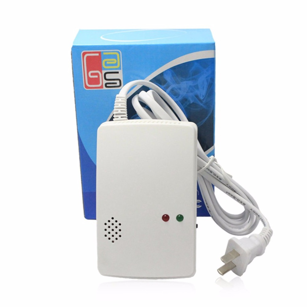 Wall Mounted Alarm Combustible Gas Detector Liquefied Gas Leak Detection Alarm Home Security Alarm System Fire Protection golden security lpg detector wireless digital led display combustible gas detector for home alarm system