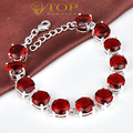 Free Shipping - best seller elegant red garnet crystal wedding bracelet for women wedding jewelry B0909