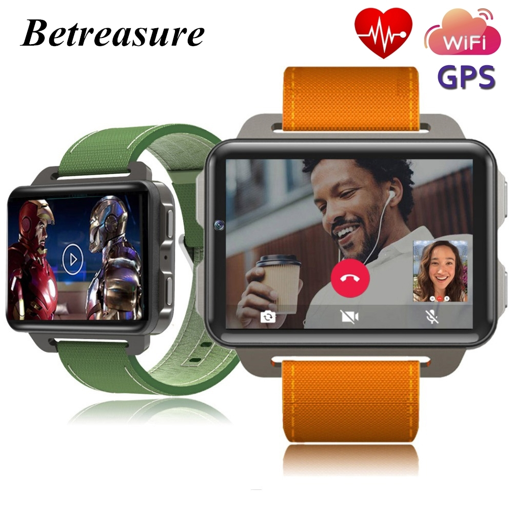 Betreasure Bluetooth OS5.1 Android SmartWatch Heart Rate Monitor Smart Watch GPS 3G WiFi Fitness Men Watch for Android iOS Phone betreasure bluetooth os5 1 android smartwatch heart rate monitor smart watch gps 3g wifi fitness men watch for android ios phone