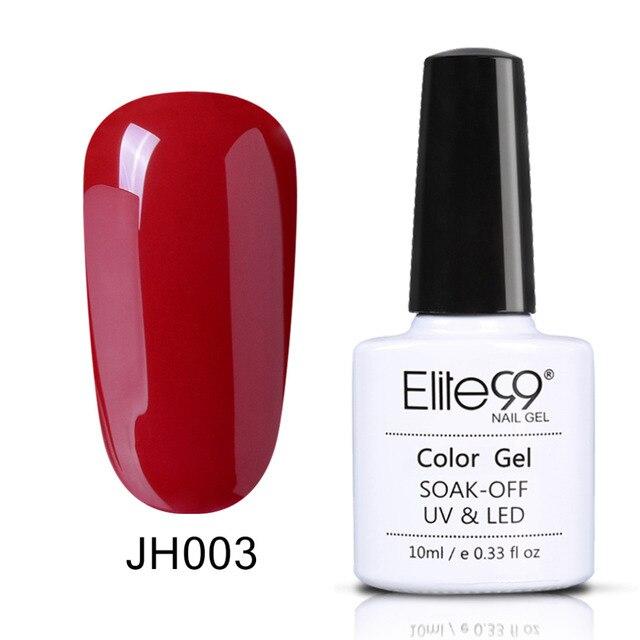 Elite99 Wein Rot Bunte Tränken Weg Nagel Gel Polnisch 1 stück 10 ml Elegante Lang Anhaltende UV Gel Emaille Für nail art Schönheit 36 Farben