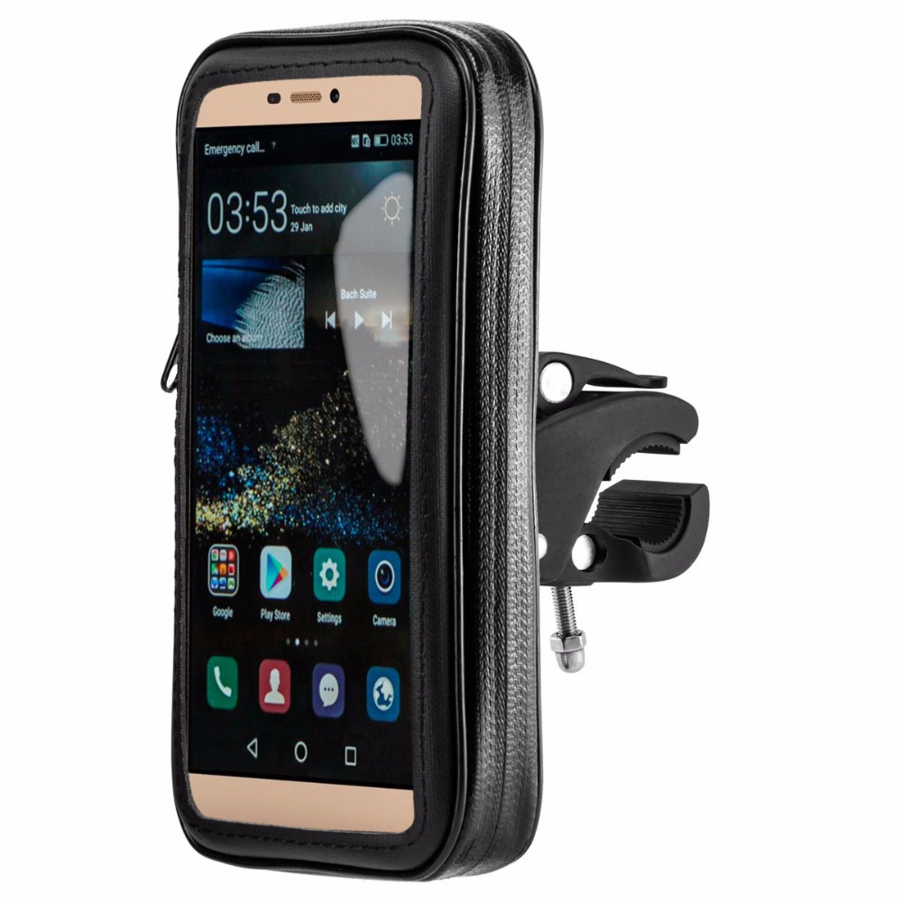 "5.5"" inch Bike Mobile Cell Phone Waterproof Bag Stand Holder for Samsung galaxy s8/plus/s7/s6/s5"