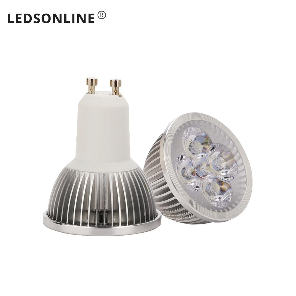 4ks DC 12V LED Bodové světlo 4W žárovka LED MR16 Teplá bílá žárovka Spotlight lampa Doprava zdarma