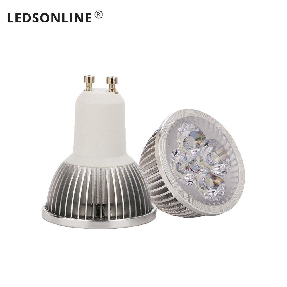 Foco de luz LED de 4 piezas 4 W MR16 DC 12 V lámpara de bombilla led blanco cálido Reflector LED 50W 30W 20W 10W reflector Led ultrafino al aire libre 220V IP65 lámpara de pared al aire libre Luz de inundación Led