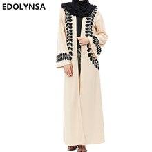 Dubai Abaya Muçulmano Vestidos Marca Vestido Plus Size Kaftan Abaya Dubai Abaya Muçulmano Robe Vestido de Tricô Macio Sólida Vestidos # D205