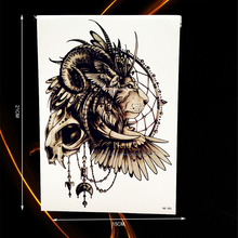 1PC Cool Indian Lion King Tattoo Sleeve Brave Men Body Art Tempporary Tattoo Sticker Waterproof Arm Chest Tatoo Warrior HHB-385