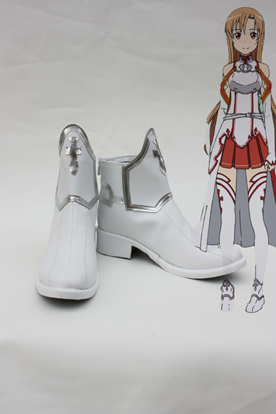 Sword Art Online SAO Yuuki Asuna cosplay shoes boots Costume Accessories Free Shipping