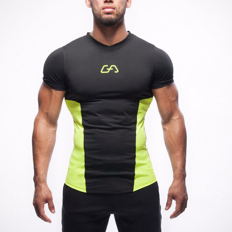 Gym Aesthetics mens Camouflage T-shirt workout training Men TEE Fitness Bodybuilding outdoor sports T-shir цена
