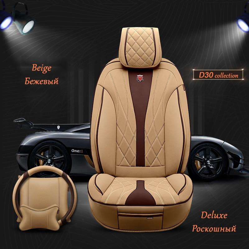 ( Front + Rear ) Leather car seat covers For Lada Largus Lada Kalina Toyota Camry Lada Vesta Toyota RAV4 Chevrolet Niva