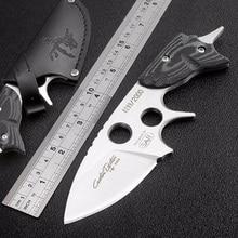 Germany 2008 SAR fixed knife 59HRC D2 blade camping survival pocket karambit Mikata handle CNC Field defense Tactical knife gift