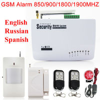 604G Wireless Wired Phone SIM GSM Home Burglar Security GSM Alarm System English Russian Spansih Voice