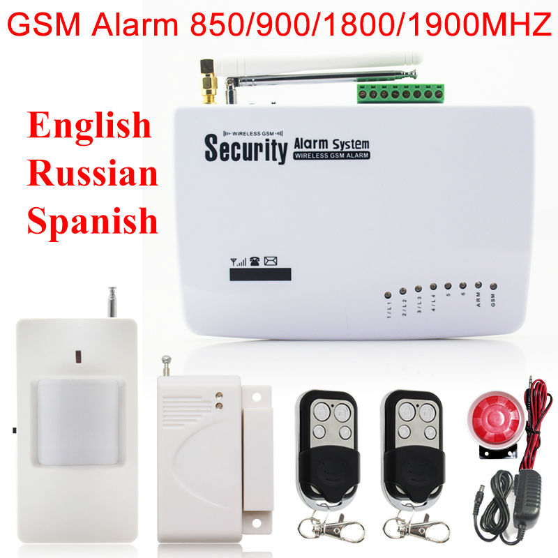 604G  Wireless/wired Phone SIM GSM Home Burglar Security GSM Alarm System English/Russian /Spansih Voice Prompt Alarm Sensor kit g63 wireless wired phone sim gsm home burglar security gsm alarm system english russian spansih voice prompt alarm sensor kit