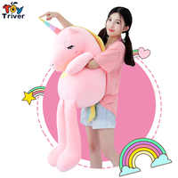 110cm Plush Unicorn Horse Toy Stuffed Animal Baby Kids Girl Gift Children's Appease Toys Sofa Pillow Cushion Bolster Home Decor