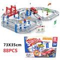 Electricidad track car toys niños asamblea educativa toys diy pista de coches de slot car toys boy toys