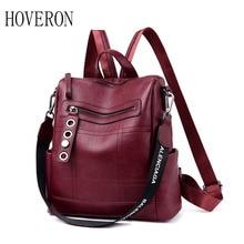 Designer Backpacks Women Leather Female School Bag Teenager Girls Travel Back Retro Bagpack Multiple use backpacks