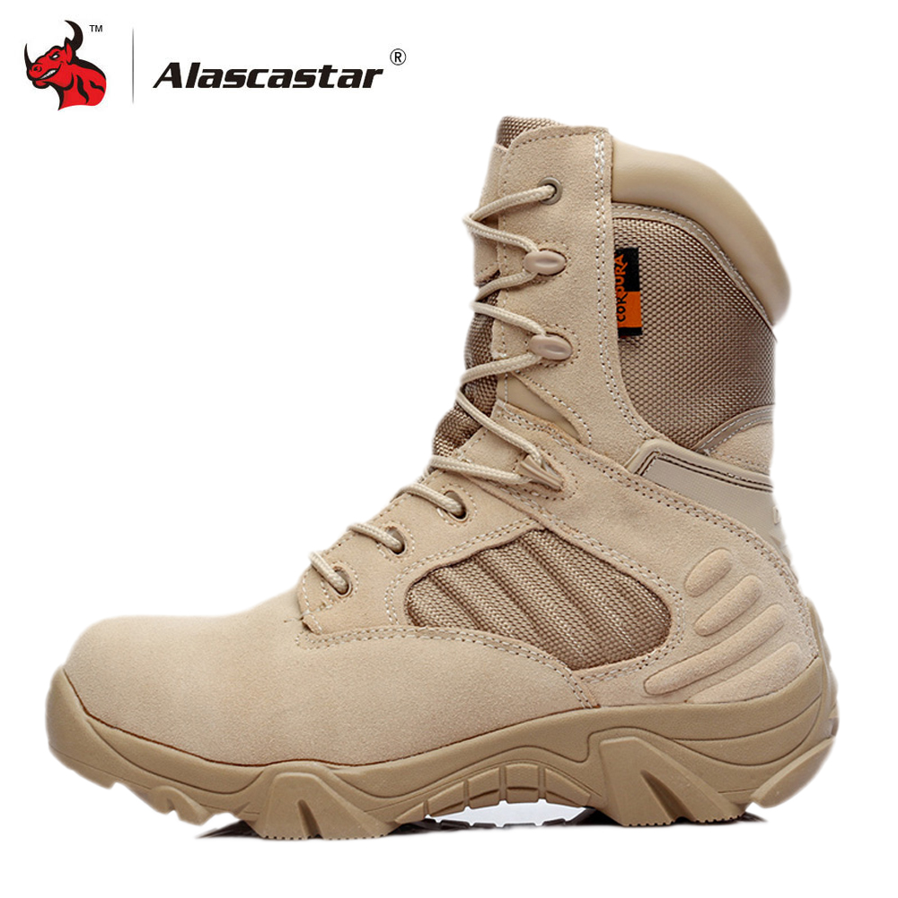 Motorcycle Boots High Ankle Racing Moto Boots Men Military Boots Quality Special Force Tactical Desert Combat