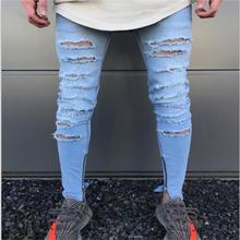 2017 new American and European style ripped afligido font b jeans b font biker font b