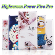 NEW Printed Drawing Cover shell for Highscreen Power Five Pro Cartoon Pattern Plastic Hard Back Cover phone case free shipping