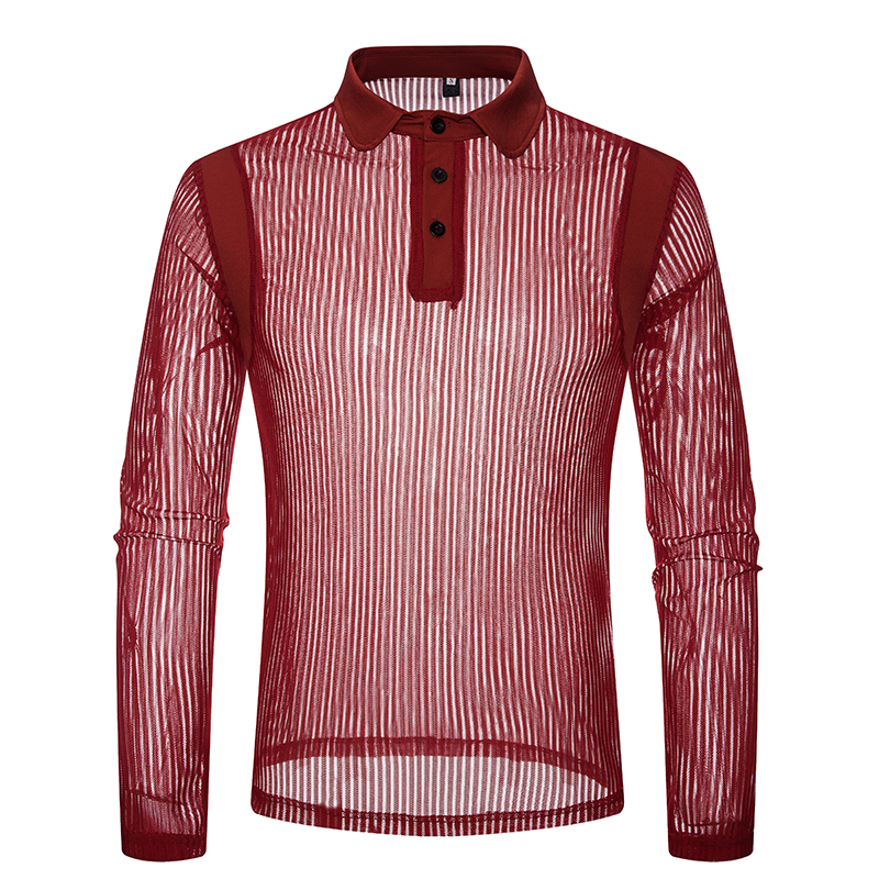 Men 39 s Sexy See through Transparent T Shirt 2019 Fashion New Long Sleeve Nightclub Wear Tshirt Men Party Prom Streetwear Tops Tee in T Shirts from Men 39 s Clothing