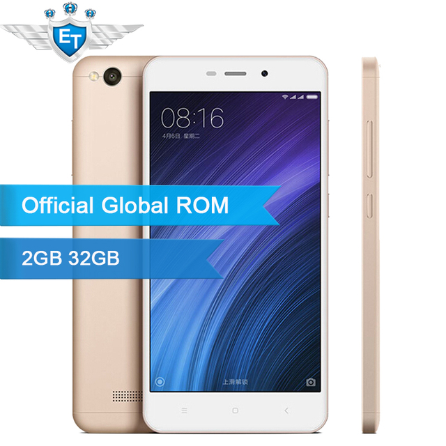 Original Xiaomi Redmi 4A 4 A 2GB 32GB Global ROM5.0 inch Snapdragon 425 Quad Core 13MP Camera MIUI 8.1 Android 6.0 Mobile Phone