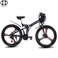 Export electric mountain bike 26 inch 48 v 3 spokes wheel strong lithium battery new hybrid drive bike riding instead of walk
