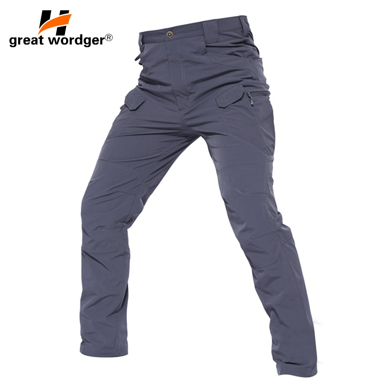 2018 IX7 Waterproof Elasticity Tactical Game Cargo Pants Mens Hiking Outdoor Pants Mens Trousers Combat SWAT Army Military Pants rocotactical male military cargo pants city urban tactical pants multi pockets breathable camping hiking pants bdu swat