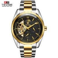 Tevise relógios masculinos marca superior relógio mecânico de luxo luminoso relógio automático masculino relógio de pulso de negócios melhor presente