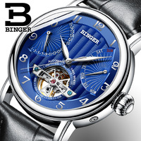 Luxury Fashion Top Brand BINGER Men's Watches Automatic Mechanical Men Watch Sapphire Male Clock Japan Movement Reloj Hombre
