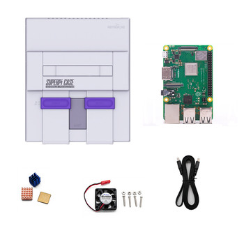 Retroflag Video Game Case SUPERPi Case U Video Game Console + Raspberry Pi 3B+ HDMI Cable + Heatsink and Cooling Fan