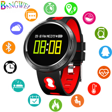 BANGWEI New Men Smart sport Watch Women LED Clock Blood Pressure Heart Rate Monitor Fitness Pedometer Bluetooth bracelet