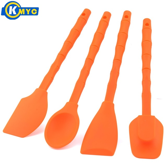 KMYC 4 PCS Silicone Baking Spatula Spoon Set for Cream Cake Decorating Jam  Salad and Butter Mini Kitchen Tools