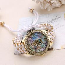Elegant Women Watches Fashion Gold Dress Watches Owl Cartoon Children Bracelet Quartz Wristwatch Mother's Gift