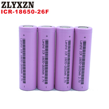 1-10PCS 18650 Battery for samsung 18650 Battery 3.7v Rechargeable batteries 2600maH Li ion ICR18650 26F Battery for flashlight