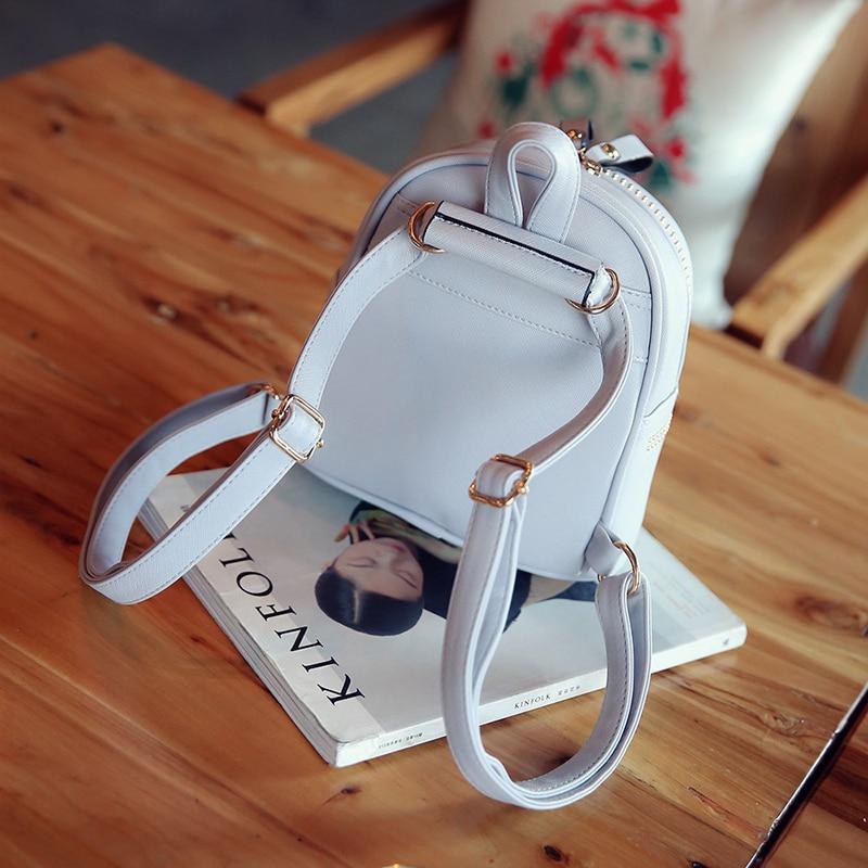New Design Mini Rivets Backpack For Women Girls 2017 Children School Bag Women Backpack Mochila Escolar Female Rucksack (17)