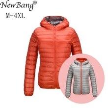 NewBang ブランドダウンジャケット女性超軽量ダウンジャケット女性の羽のジャケット両面可逆軽量暖かいコート